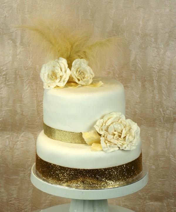 Gold 2 Tier Ibiza Wedding Cake Ibiza Cakes