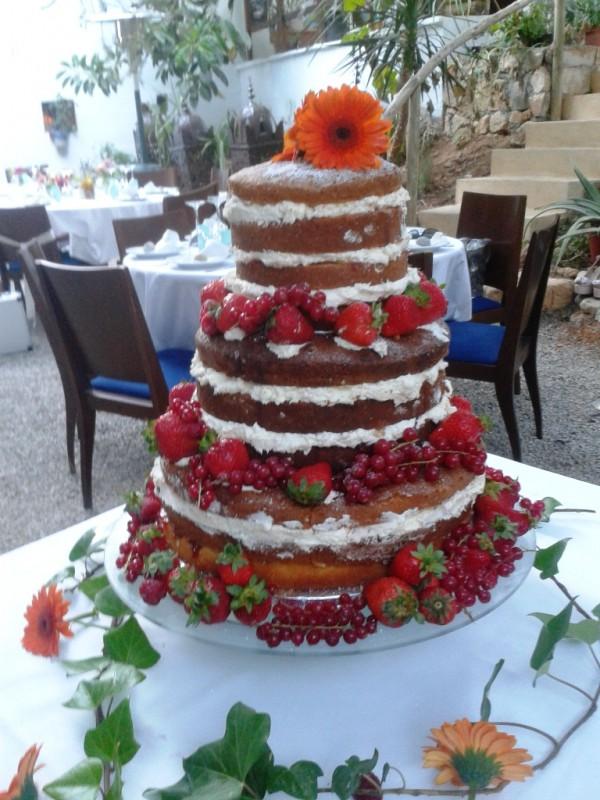 Fresh Fruit Victoria Sponge Layer Cake
